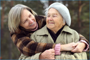 "When you Google image search ""Busy Seniors"" this pops up.  Never too old for surprise hugs!"