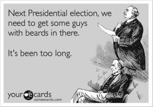 Prof. Sides can probably tell you whether a bearded candidate would have made a difference.