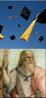 Plato likes to throw his cap, too.
